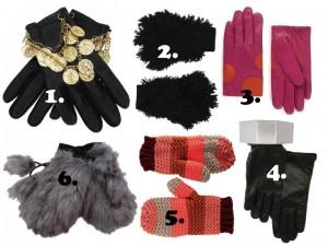 cool gloves in wool, fur, cuffs, coins, blankstareblink.com