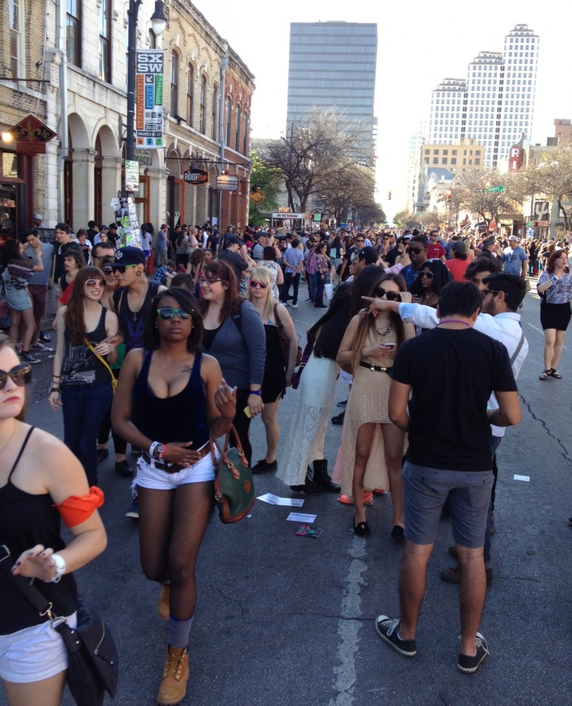6th Street, Austin, Texas, SXSW. Or is it Bourbon Street?