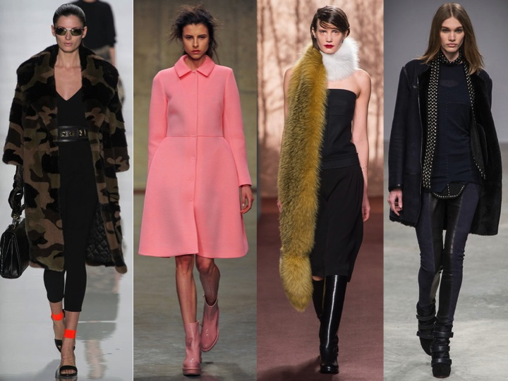 "NYFW: MIchael Kors ""Camo"" trend, LFW: Simone Rocha ""Pink"" trend, MFW: Marni ""Fur"" +  Strapless"" trends, PFW: Isabel Marant ""Leather"" trend."