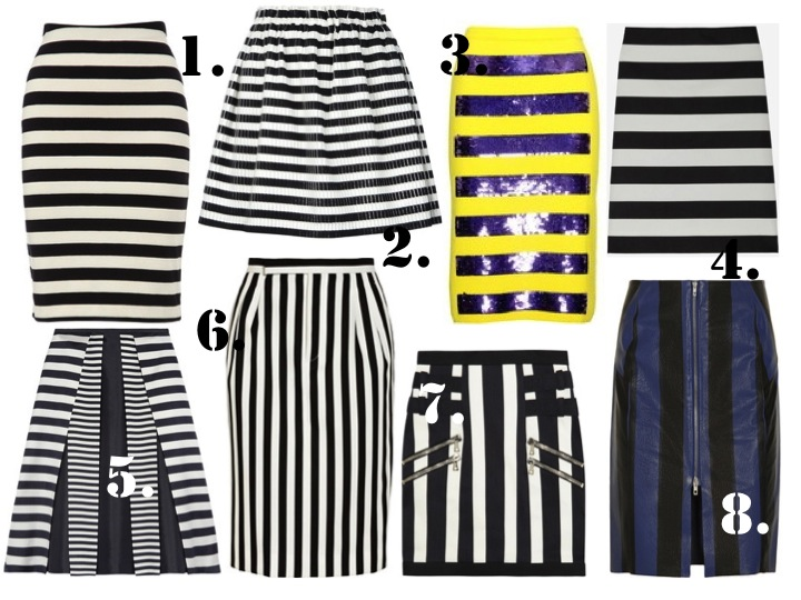 STRIPED SKIRTS BLANKSTAREBLINK