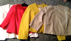 Megan's Anchor Blazer collection: from Banana Republic, LOFT, and Boden.