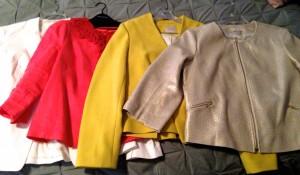 Megan's Anchor Blazer collection: from Banana Republic, LOFT, and Boden.