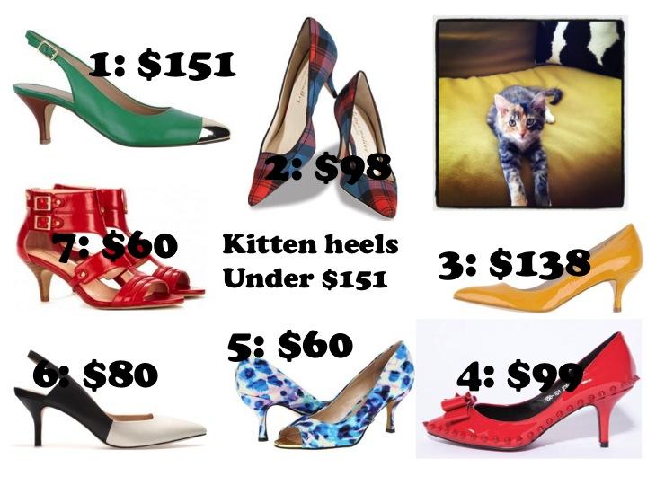 kitten heels under $150 blankstareblink