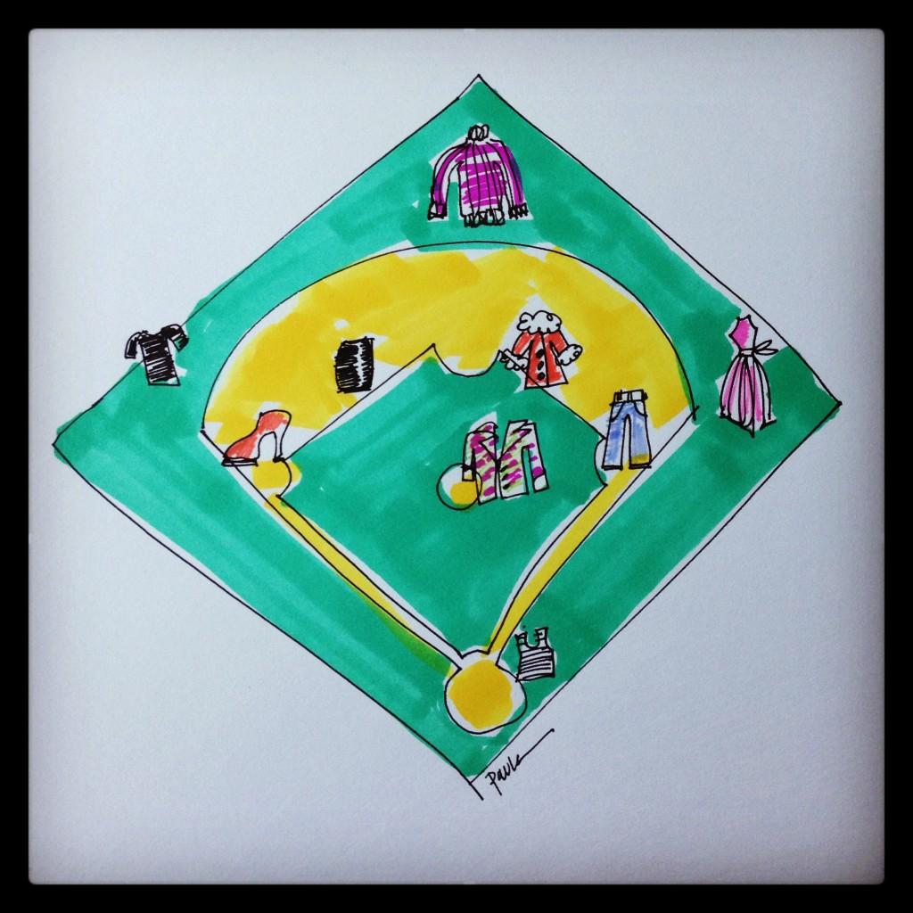 Baseball illustration paula mangin blankstareblink