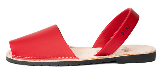 Pons Avaracas from Avarcas USA in bright red, perfect for the 4th of July.