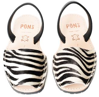 Pons avarcas zebra print