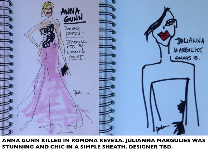 ANNA GUNN JULIANA MARGULIES EMMYS13 PAULA MANGIN ILLUSTRATIONS