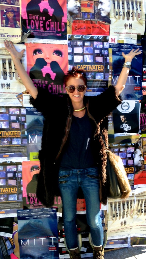 Me on Main Street at Sundance. Martin Margiela faux fur coat, Marni real fur bag.