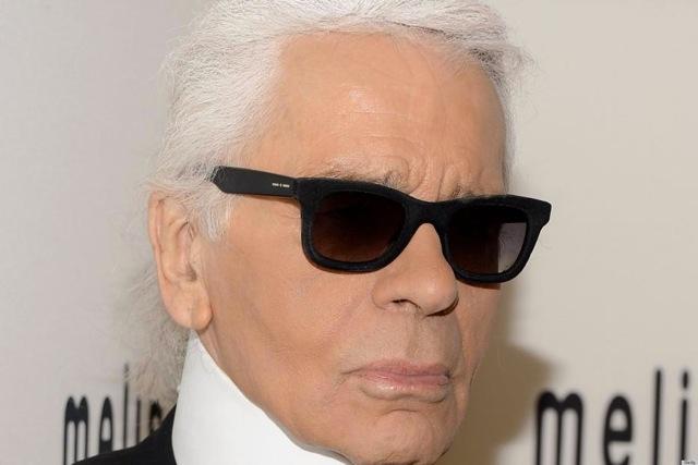Karl in his signature Italia Independent shades.