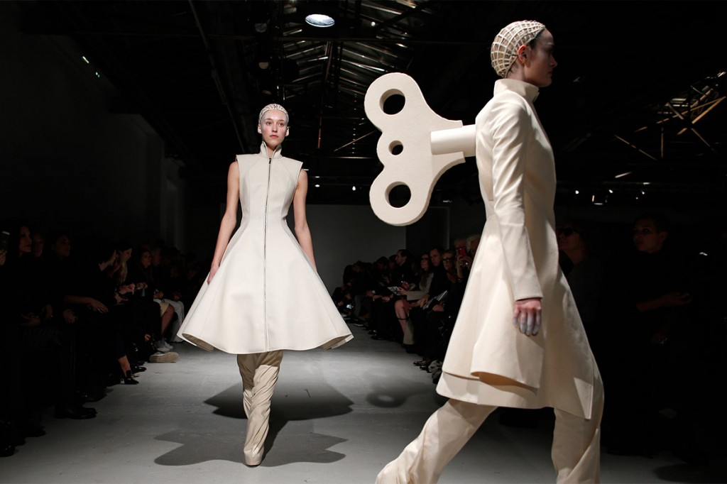 "Gareth Pugh ""winds down"" Paris Fashion Week. Photo: Reuters."