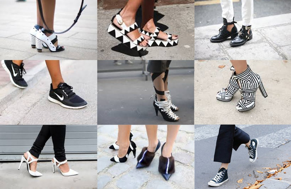 Black & White shoes, blankstareblink.com
