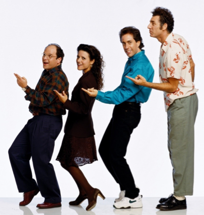 Seinfeld, a show about nothing, style by Normcore.
