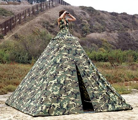 avant-garde tent dress