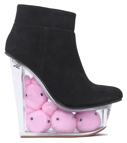 "Jeffrey Campbell ""Easter"" shoes. In case of emergency, break wedge and eat the Peeps!"
