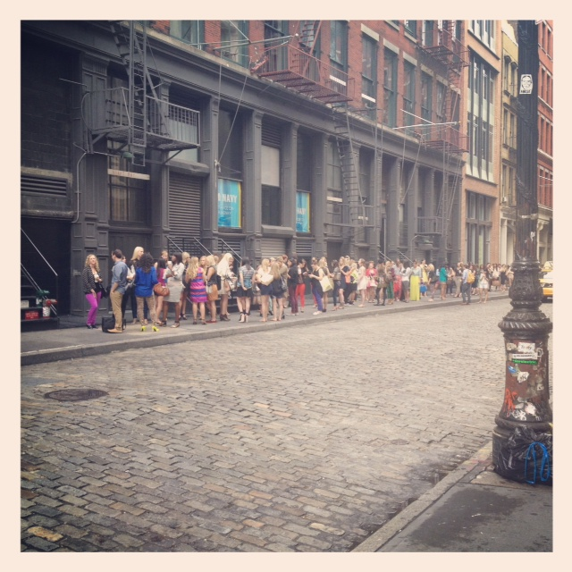 The line outside of the IFB Conference in New York, circa 2012.