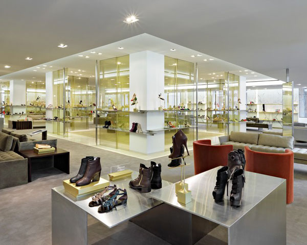 Barney's New York shoe department, Elle.com