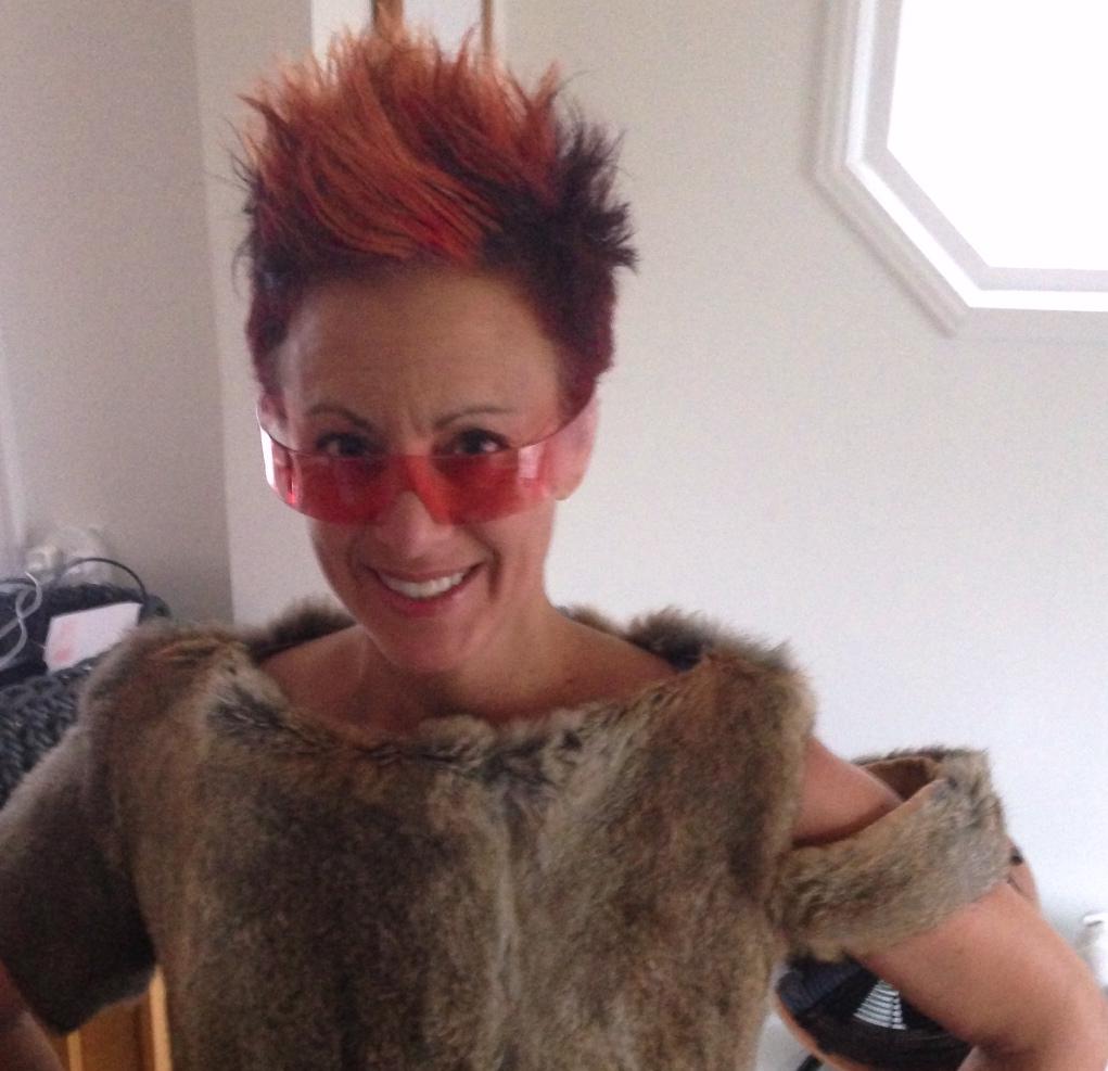 """Me in """"Paris Pink"""" Lookie Lous®. Fur top by Staci Snider."""