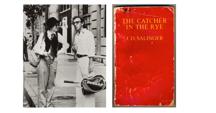 Woody Allen from Annie Hall; JD Sallinger's charaters played tennis. Image from Boast USA.com.