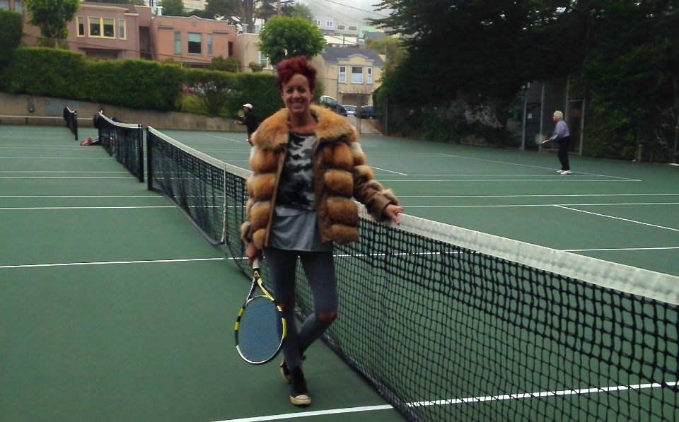 paula mangin blank stare blink fur tennis