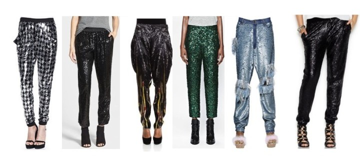 sequined pants christmas style