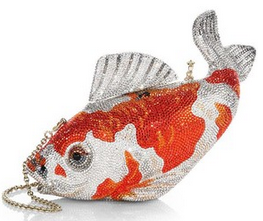 Judith Leiber fish bag, Saks.