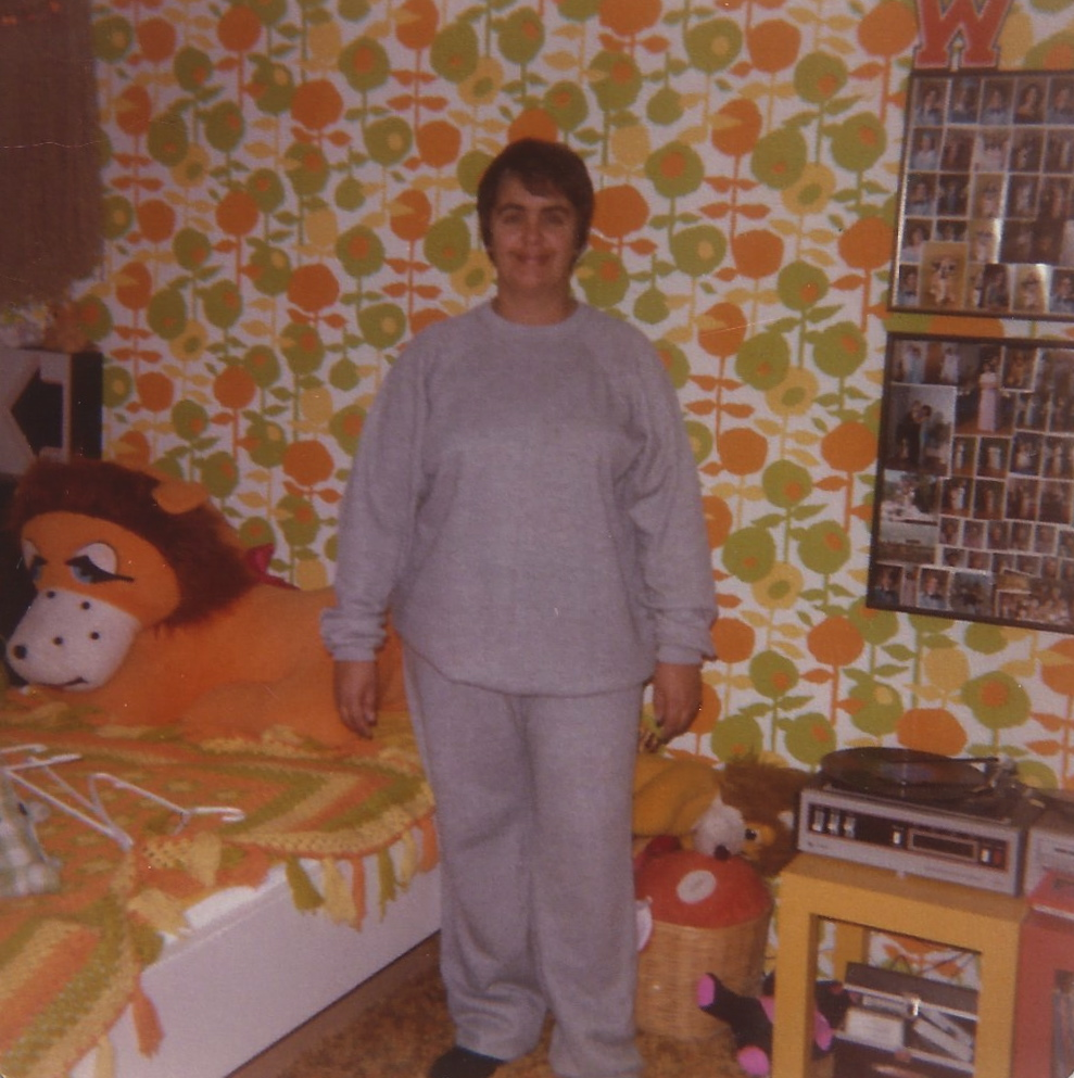 "My mom, in my childhood bedroom, around the time I broke the ""no kids"" news."