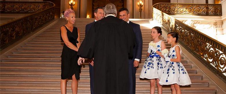 gay marriage, city hall wedding san francisco