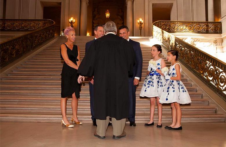 John pinocci wedding city hall gay marriage paula mangin
