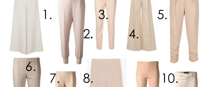 cool nude pants, cool beige pants, tan pants, nude pants trends