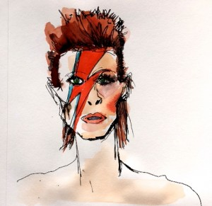 David Bowie illustration paula mangin