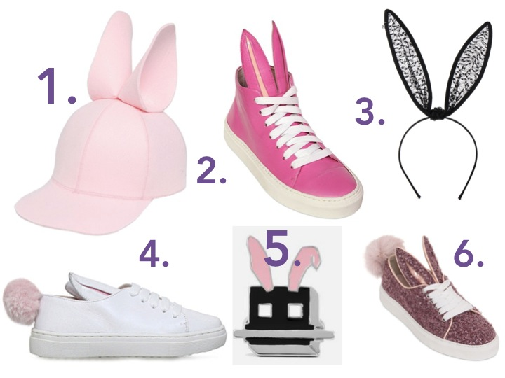 Bunny shoes and hats
