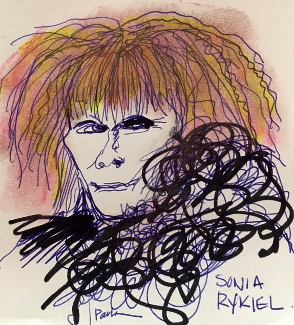 sonia Rykiel illustration paula mangin