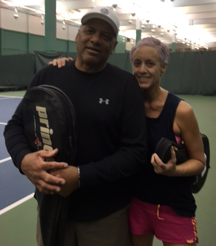 Me and Coach White from the San Francisco Tennis Club.