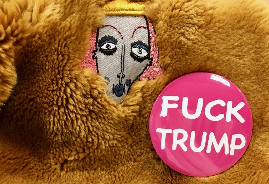 fuck trump button 2