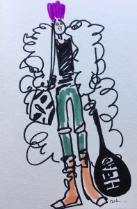paula mangin illustration fur coat tennis 2