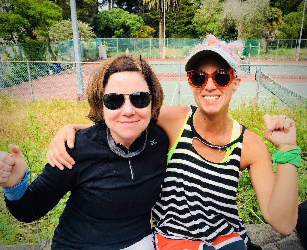 Paula Mangin + Nancy Barrett tennis